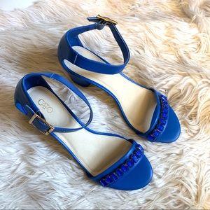 CATO Blue Stone Heels (NWOT)